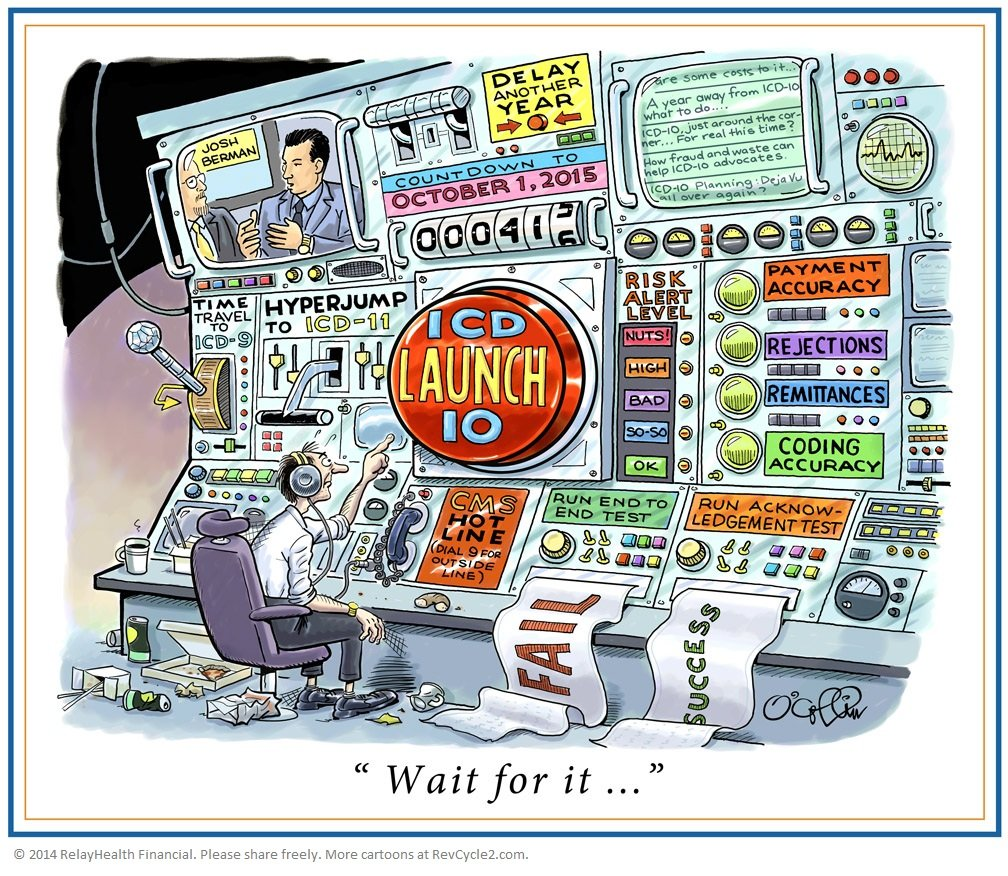 ICD-10 Launch Button Cartoon