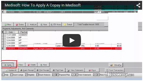 Medisoft Video: How to apply a copay in Medisoft