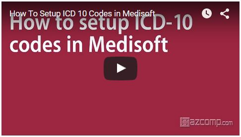How to setup icd10 codes in Medisoft
