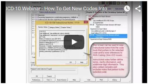 video play - webinar how to get codes into medisoft