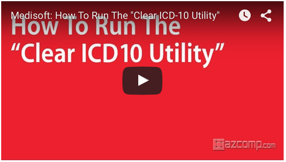 clear ICD-10 utility for Medisoft