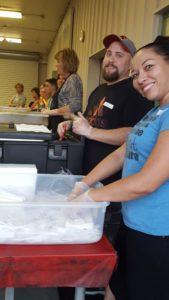 Russ & NaTasha during food service.