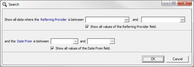 Medisoft Referring Provider Analysis Filter