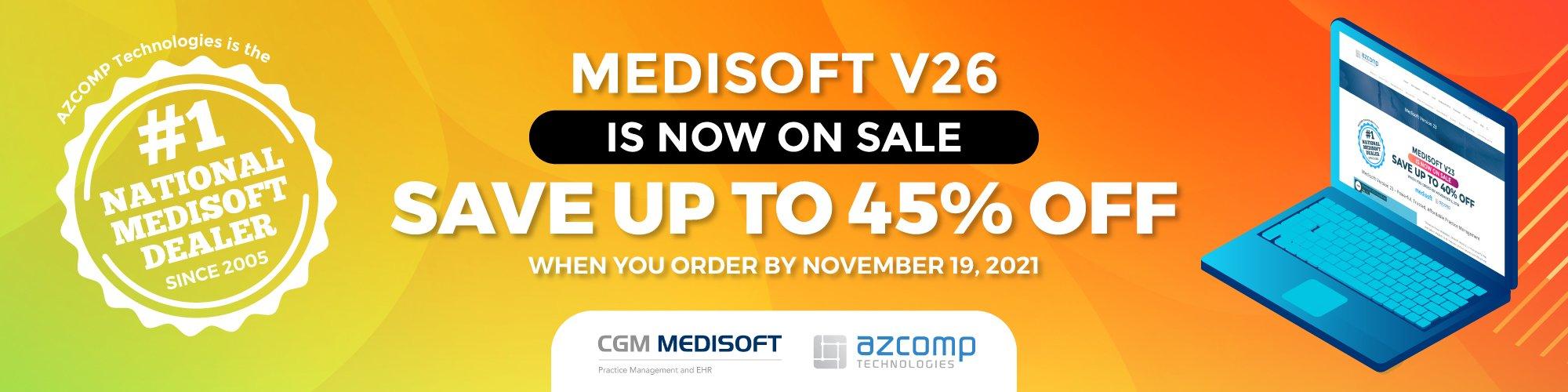 Medisoft v26 sale